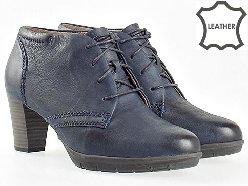 Комфортни дамски обувки Jana на висок ток в син цвят 825102s