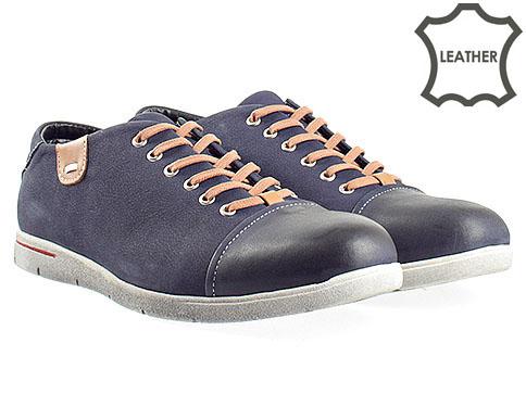 Мъжки обувки с изчистен дизайн, модел с интересно и модно ходило m057ns