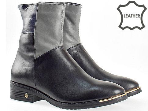 Български стилни боти от естествена кожа 296chsv