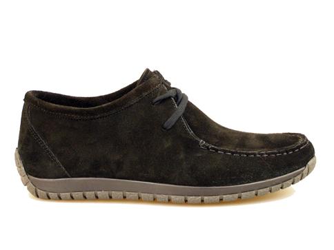 Комфортни мъжки обувки от естествен велур, произведени в Пещера 7105vch