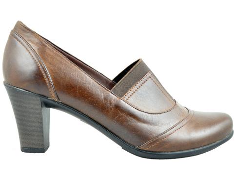 Стилни, ежедневни и комфортни обувки на среден ток, произведени от естествена кожа 508122k