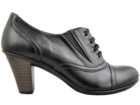 Ежедневни дамски обувки с връзки, на удобен среден ток  70255ch