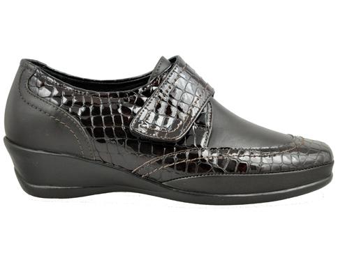Анатомични дамски обувки топ мокасина с лепенка z7268kk