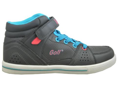 Детски обувки тип кецове, изработени от висококачествена еко кожа в сив цвят 825-35sv