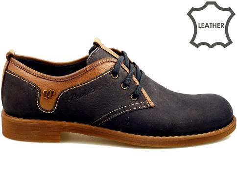 Класически модел мъжки обувки с връзки в черен цвят 2873nch