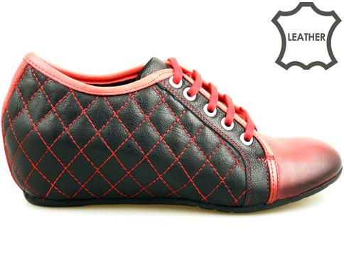 Атрактивни дамски обувки, изработени от естествена кожа m342chchv