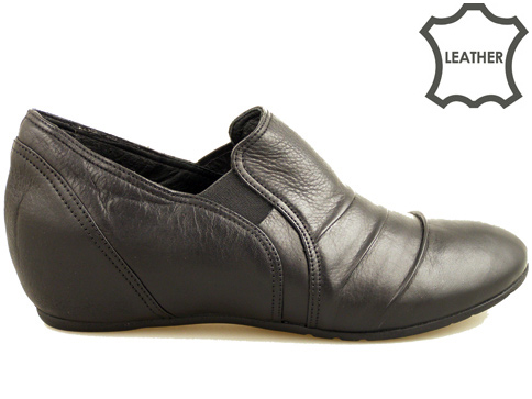 Ежедневни дамски обувки от естествена кожа с удобна платформа 345ch