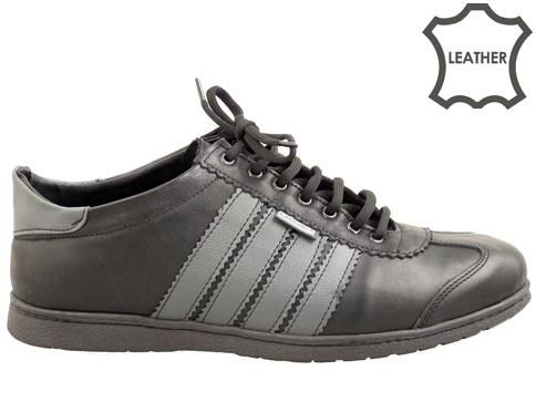 Спортни мъжки обувки с комфортно и гъвкаво ходило, изработени от естествена кожа 1391440ch
