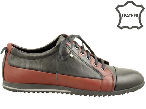 Качествени мъжки спортни обувки с връзки, изработени от естествена кожа с модерна визия 275bdch