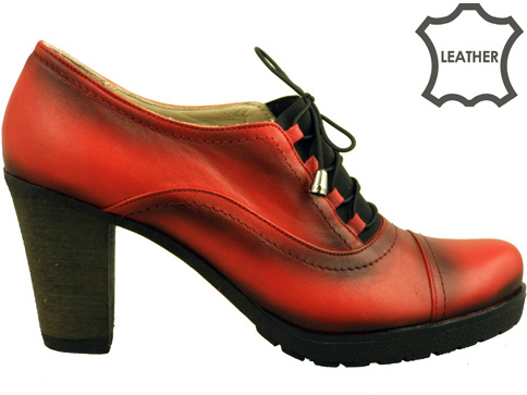 Комфортми дамски обувки - италиански стил , изработени от естествена кожа 105chv