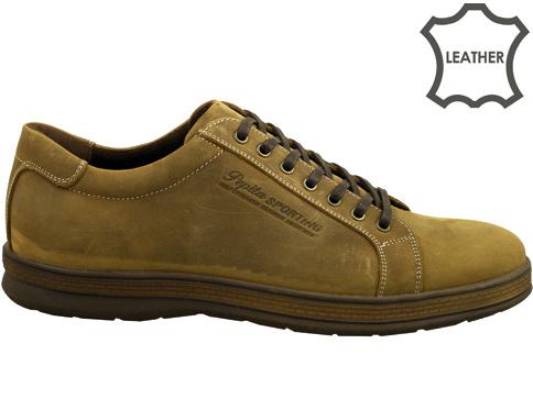 Модерни мъжки обувки на гъвкаво и комфортно ходило , изработени в бежов цвят 2580nbj