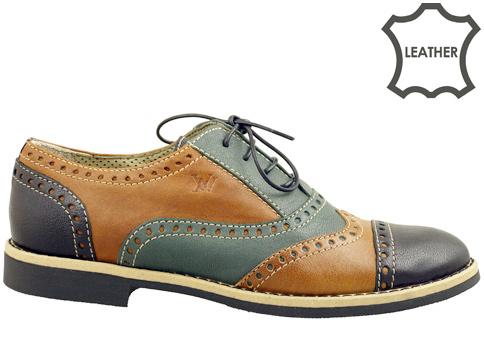 Дамски обувки в уникална цветова комбинация, изработени от естествена кожа , ишлеме за Италия 4468613chzk