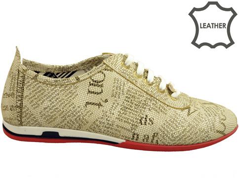 Дамски спортни обувки от ефектна естествена кожа  n109bbj