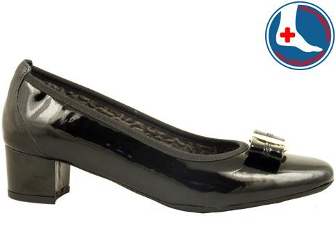 Ортопедични дмски обувки с красива панделка и златист орнамент z70961lch