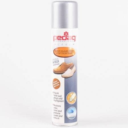 Спрей за почистване, защита и поддръжка на обувки от набук и велур в светло кафяв цвят на марката Pedag p-861-03
