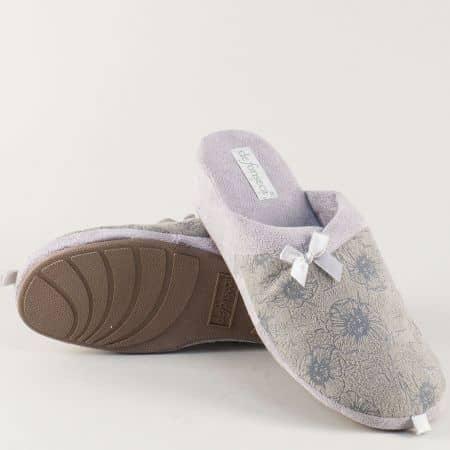 Сиви, дамски домашни чехли- DE FONSECA на платформа palermosv