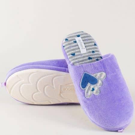 Домашни дамски пантофи в лилаво- DE FONSECA romal
