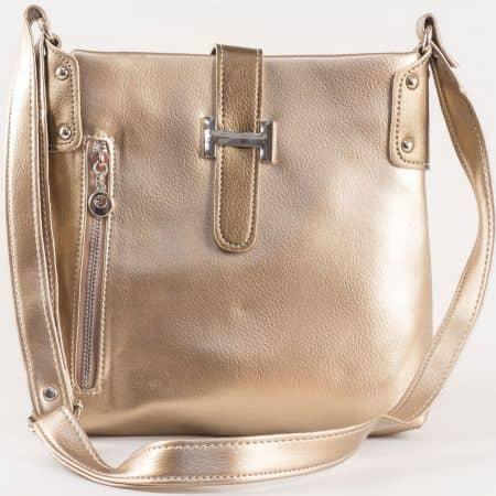 Дамска чанта за всеки ден на български производител в златисто s1110zl