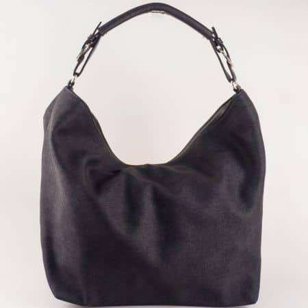 Дамска чанта за всеки ден със семпла визия на български производител в черен цвят s1187ch