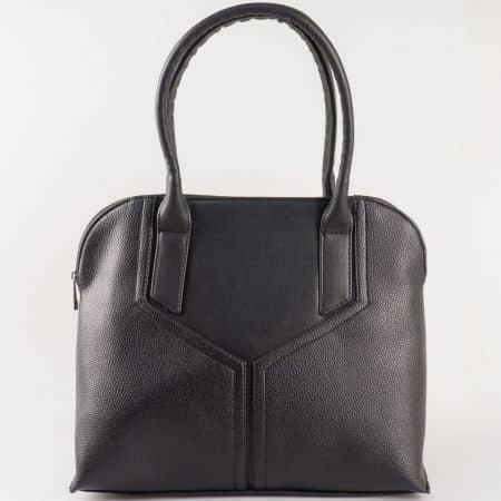 Дамска чанта за всеки ден с две дръжки на български производител в черно s1190ch