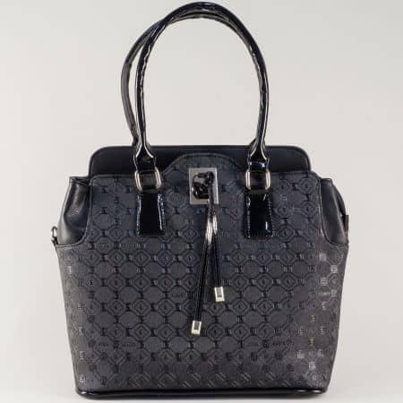 Ежедневна дамска чанта в черно на български производител s1207bch