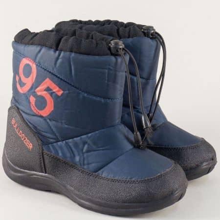 Детски апрески на комфортно ходило в син и черен цвят v4130-35s