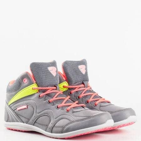 Спортни дамски обувки тип кец с връзки и комфортно ходило с марка  Bulldozer v52001-40sv