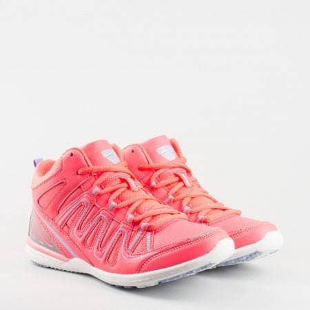 Дамски маратонки в уникално цветово съчетание и модерна  визия v52003-40ck