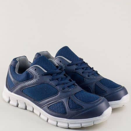 Сини мъжки маратонки на комфортно ходило v61234-45s