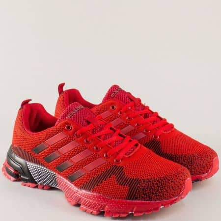 Червени мъжки маратонки на удобно ходило v71194-45chv