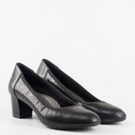 Ортопедични  дамски обувки от естесвена кожа със среден ток z1201ch