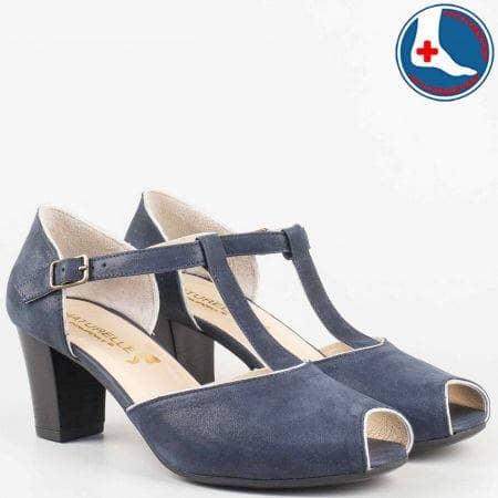 Дамски обувки на удобно анатомично ходило от естествена кожа с каишка на известната марка Naturelle z1653s