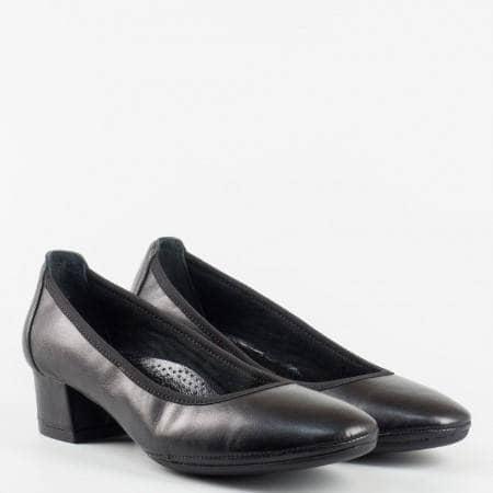 Черни  ортопедични дамски  обувки  от 100 %  естествена кожа z695701ch