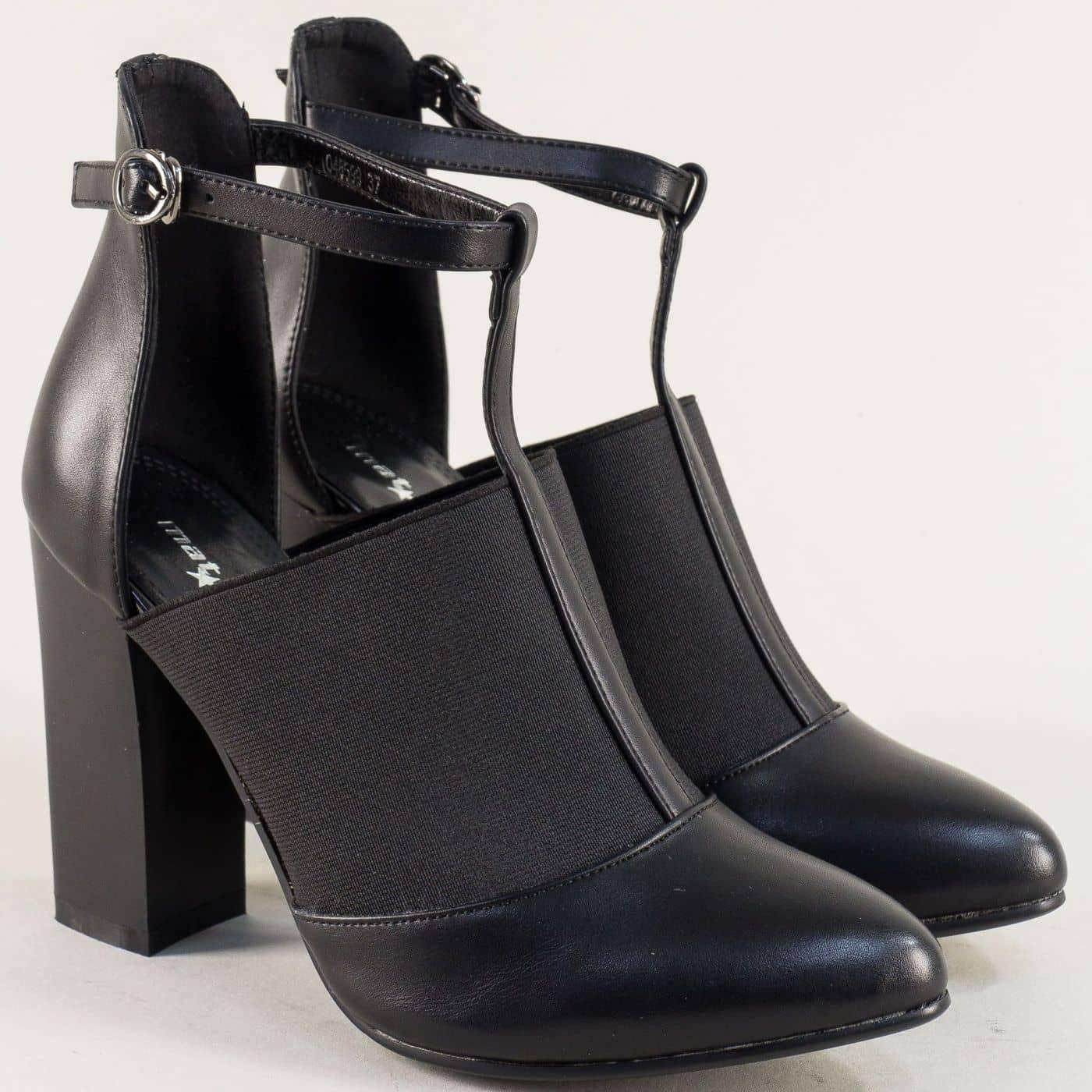 8fc7b2ab8c0 Дамски черни обувки с фешън визия на висок ток 048599ch - Zebra 1992