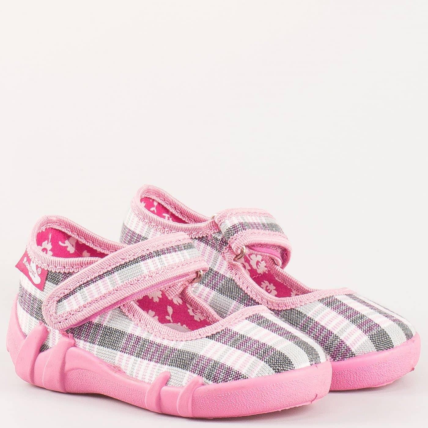 ed9a924f835 Розови детски пантофки на дишащо ходило 13139ksv - Zebra 1992