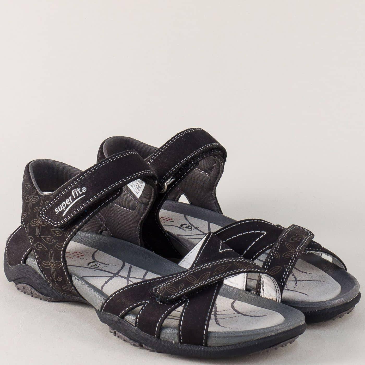209a3bc9c50 Черни дамски сандали Super Fit на комфортно и равно ходило 15101ch - Zebra  1992