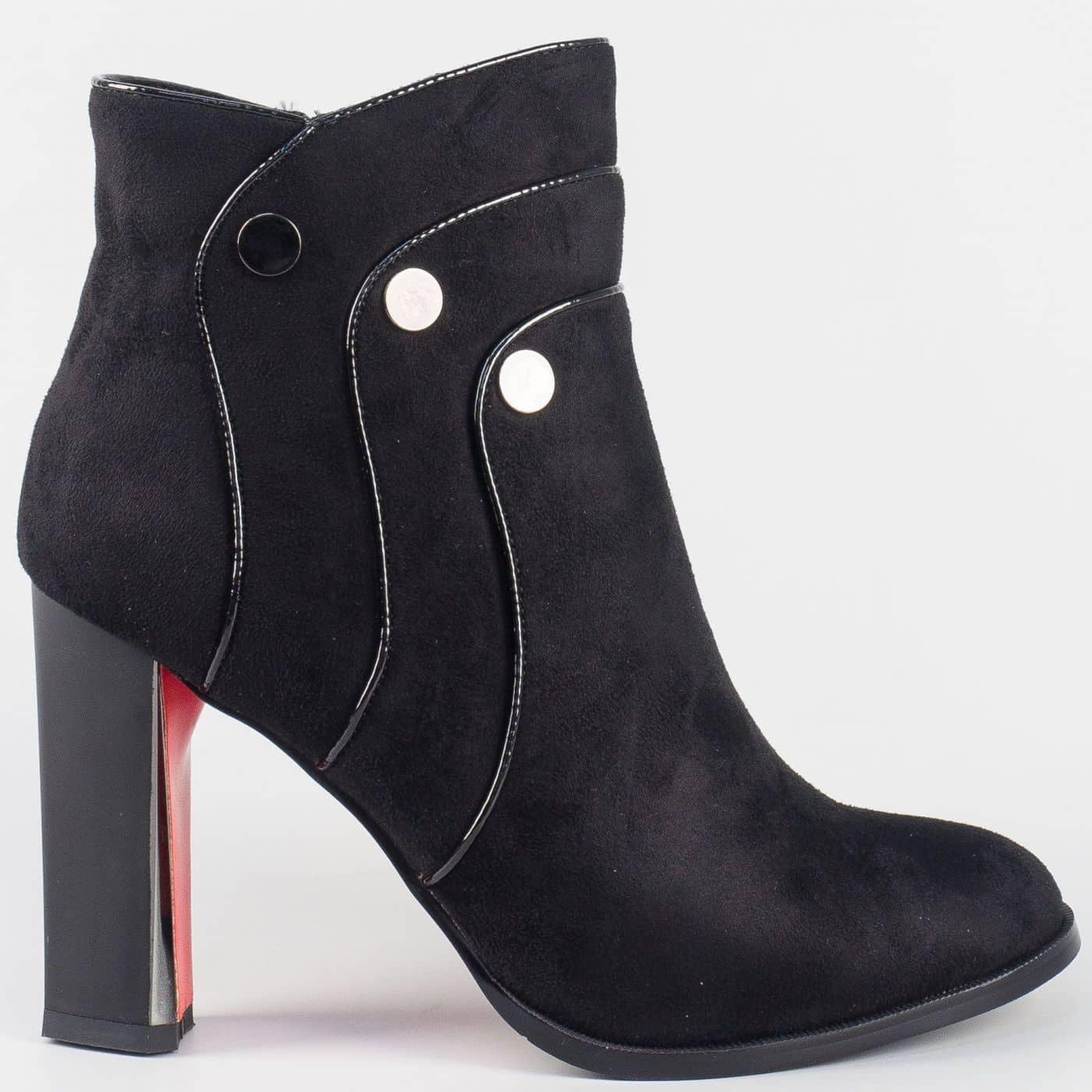 d2acc5690da Дамски елегантни боти на луксозен висок ток- Eliza в черен цвят 156036vch