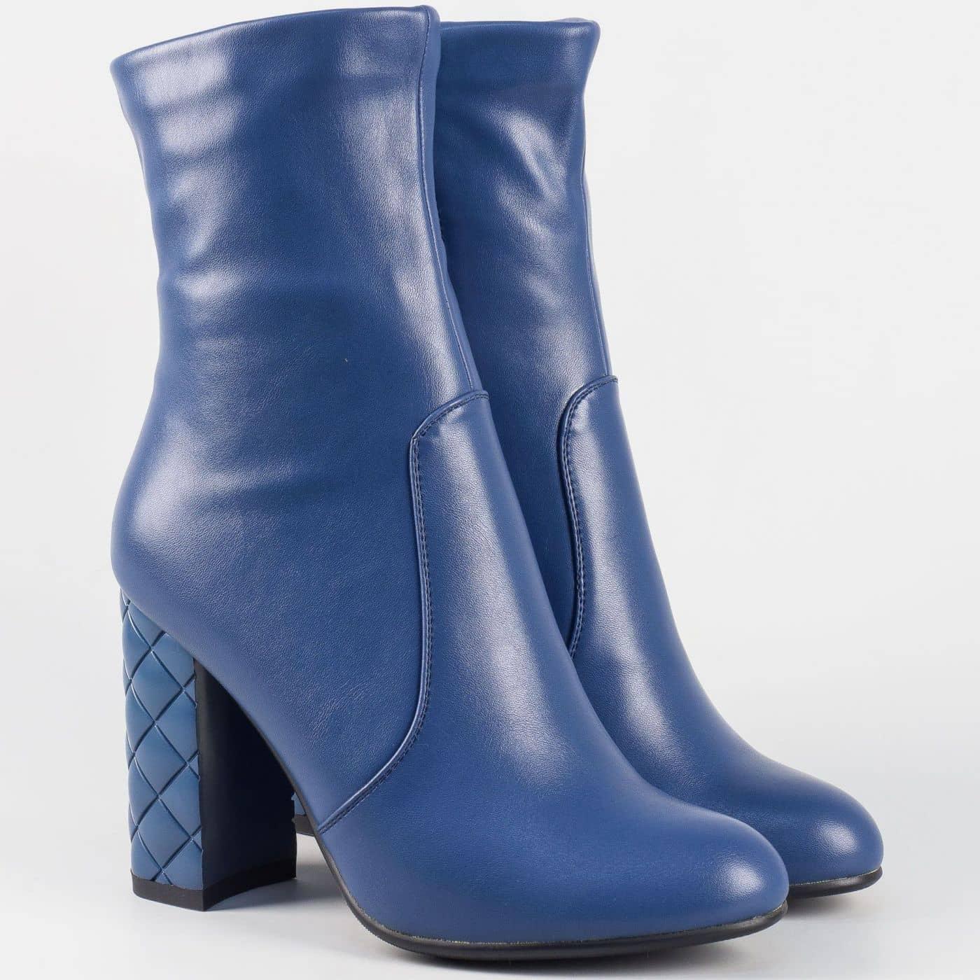 f67ae1c1ff4 Стилни дамски боти на висок ток- Eliza в син цвят 21256s - Sisi-bg.com