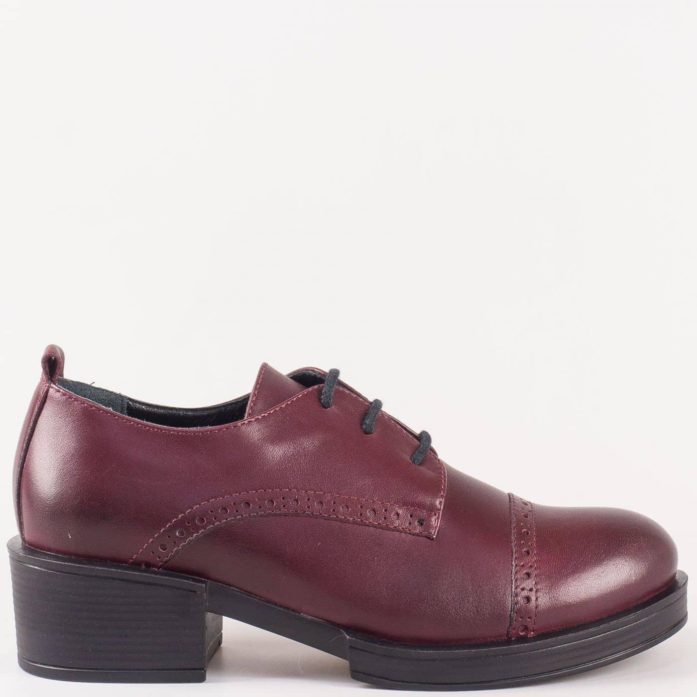 04c2b6e1d90 Дамски обувки на широк ток в цвят бордо 24501bd - Zebra 1992
