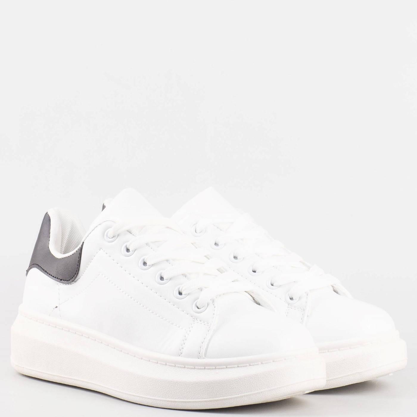 d02725cbc0d Дамски спортни обувки с връзки на български производител в бял цвят 35-40b  - Sisi-bg.com