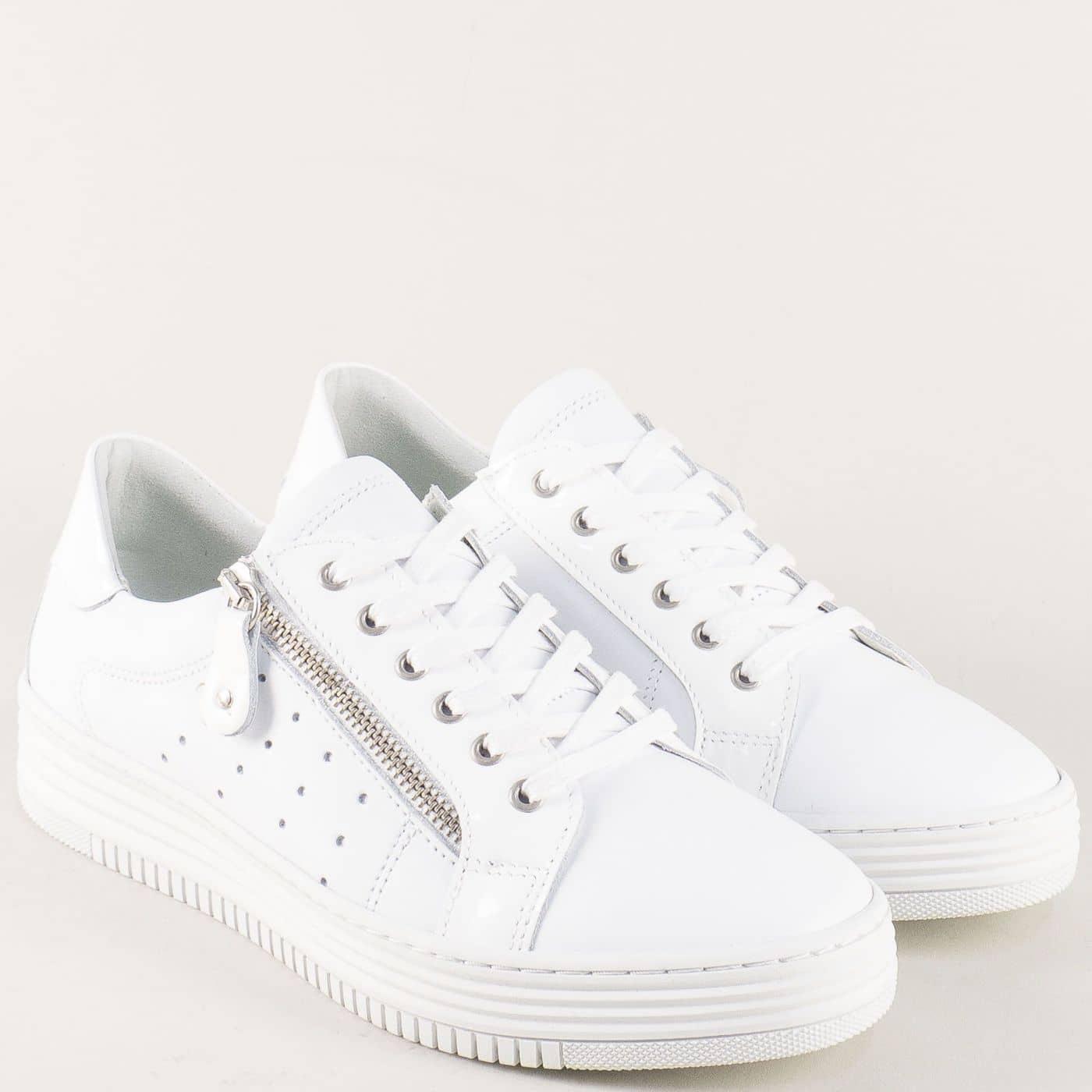 2ab9f0c2a36 Дамски спортни обувки от бяла естествена кожа 420003b - Sisi-bg.com