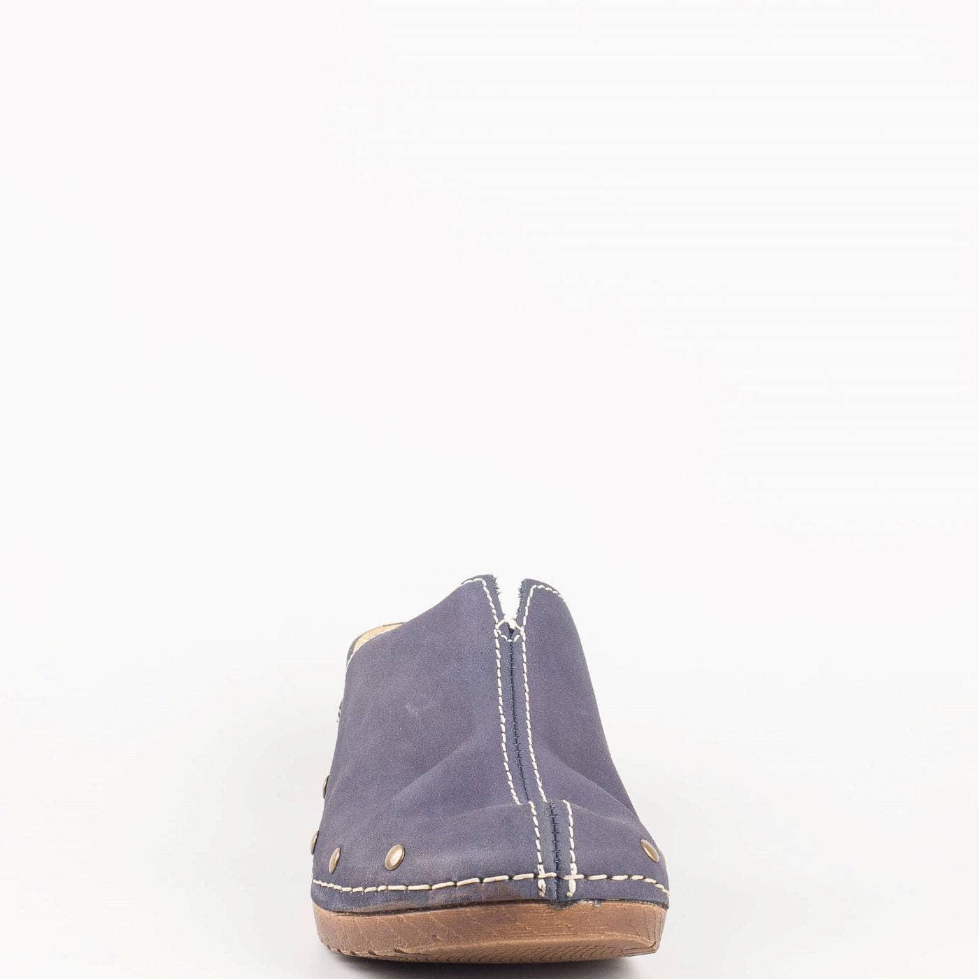 3240f91df2d Немско дамско сабо на платформа от синя естествена кожа- Jana 8827302s