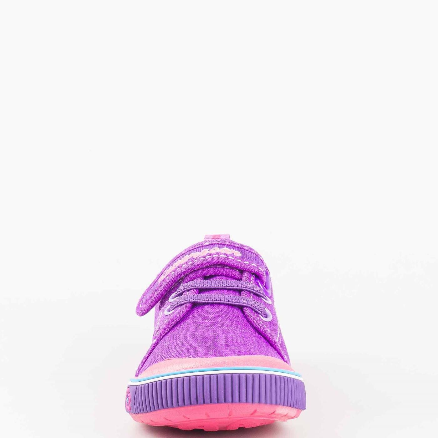 7cc3a917755 Детски ежедневни кецове с връзки и удобна лепка Athletic в лилав цвят  9468-30l
