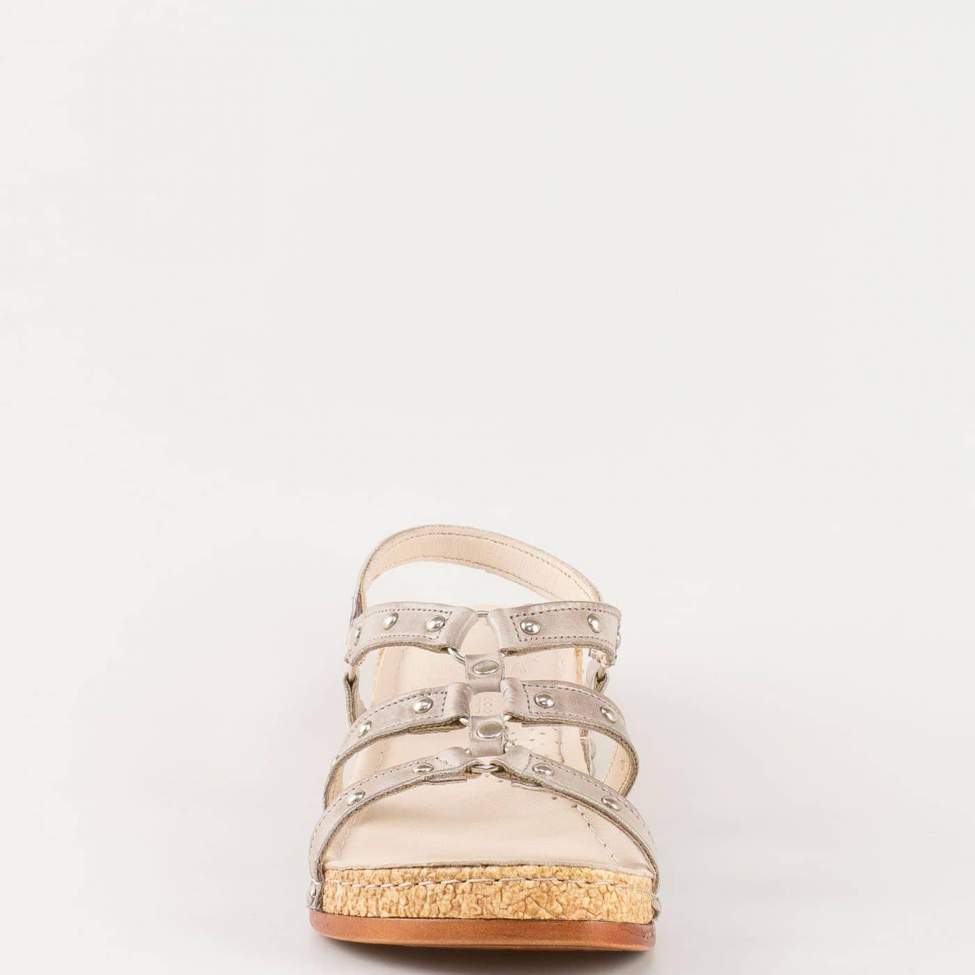c46a8affba1 Дамски удобни сандали на комфортно ходило изработени от 100% естествена  кожа в сив цвят k213sv