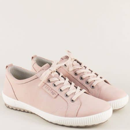 Дамски обувки в розов цвят със стелка от естествена кожа 000823rz