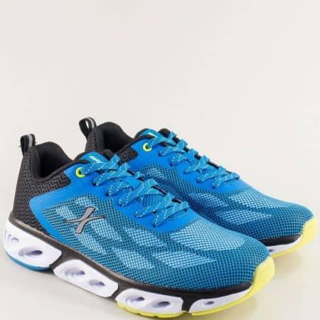 Мъжки маратонки в синьо, черно, бяло и жълто- MAT STAR 002298-45ss