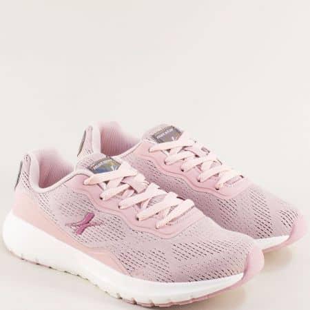 Дамски маратонки с връзки в розов цвят- MAT STAR 002299-40rz