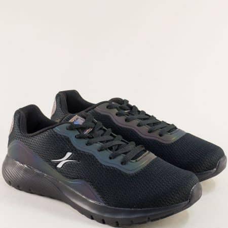 Мъжки спортни обувки с връзки в черен цвят- MAT STAR 002299-45ch