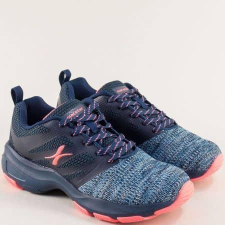 Дамски маратонки с връзки в тъмно син цвят- MAT STAR 002301s