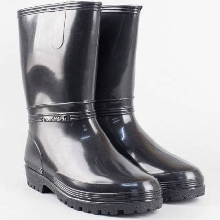 Гумени ботуши с комфортно и грайферно  ходило в черен цвят 0052-40ch